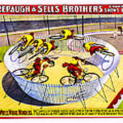 Forepaugh And Sells Wild Wheel Whirl Wonders Poster