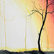 Forest Sunset Poster by Denisa Laura Doltu