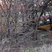 Forgotten Schoolbus Illinois Bend North Texas Poster