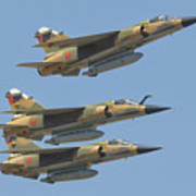 Formation Of Royal Moroccan Air Force Poster