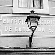 former headquarters of the energia electrica de cataluna raval Barcelona Catalonia Spain Poster
