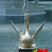 Forsyth Fountain II Detail In Savannah Georgia Poster