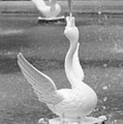 Forsyth Park Fountain - Black And White 3 2x3 Poster