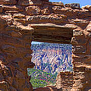 Fort Jemez Adobe Window Poster