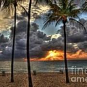 Fort Lauderdale Beach Florida - Sunrise Poster