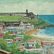 Fort San Felipe Del Morro From Fort San Cristobal Pr Poster