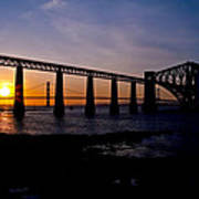 Forth Bridges Sunset Poster