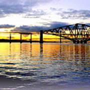 Forth Rail Bridge At Sunset Poster