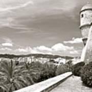 Fortress Overlooking Palma De Majorca Poster