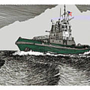 Foss Tractor Tugboat Poster