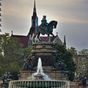 Fountain At Eakins Oval Poster