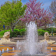 Fountain In Coolidge Park Poster