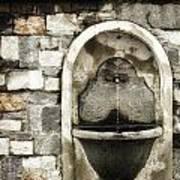 Fountain Of Ascona Poster