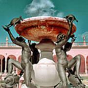 Fountain Of The Tortoises Ringling Museum Sarasota Poster