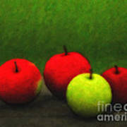 Four Apples Poster