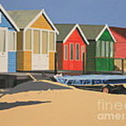 Four Beach Huts Poster