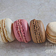 Four Macarons In A Row Poster