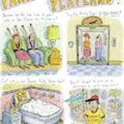 Four Panels Advertise Parkway Playland Poster