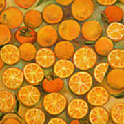 Four Persimmons Poster