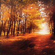Four Seasons Autumn Impressions At Dawn Poster