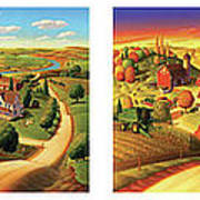 Four Seasons On The Farm Poster by Robin Moline