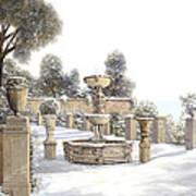 four seasons-winter on lake Como Poster
