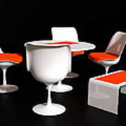 Four Tulip Chairs Poster