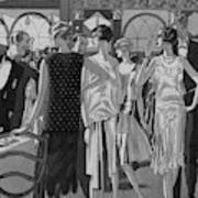 Four Women In Evening Wear Poster
