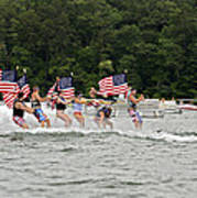 Fourth Of July On The Lake Poster