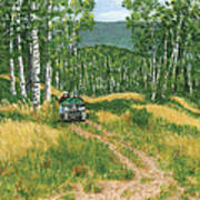 Fourwheeling In Alaska Poster