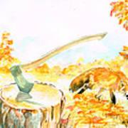 Fox In Autumn Poster