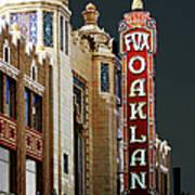 Fox Theater . Oakland California Poster