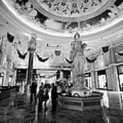 foyer and entrance to the forum shops at caesars palace luxury hotel and casino Las Vegas Nevada USA Poster