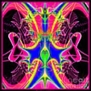 Fractal 15 Color Cacophony  Poster