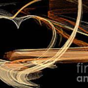 Fractal 24 Es Heart Poster
