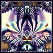 Fractal 26 Jeweled Tone Lotus Flower Poster
