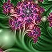 Fractal Abstract Dreamy Garden Poster