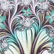 Fractal Abstract Fantasy Flower Garden 2 Poster