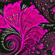 Fractal Flowers Poster