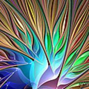 Fractal Bird Of Paradise Poster