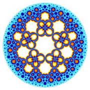 Fractal Escher Winter Mandala 3 Poster
