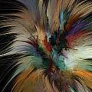 Fractal Feathers Poster