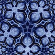 Fractal Floral Pattern Poster