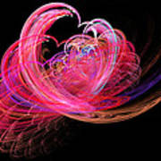 Fractal - Heart - Lets Be Friends Poster