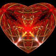 Fractal - Heart - Open Heart Poster by Mike Savad