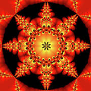 Fractal In The Centre Poster