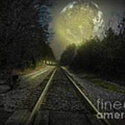 Fractal Moon Poster