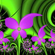 Fractal Neon Fantasy Poster