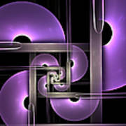 Fractal Purple Semicircles Poster