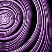 Fractal Purple Swirl Poster